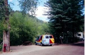 van behind